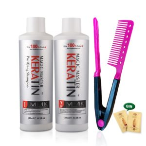 120ml MMK Keratin Treatment For Hair Coconut Oil Straightening Without Formalin Hair Treatment Set Free Red Beauty-Health Mega Shop